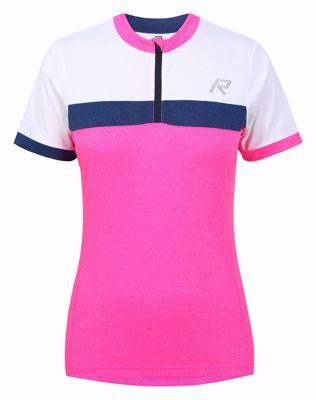 Raskog fietsshirt women white/blue/pink
