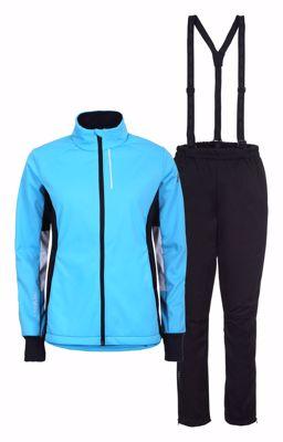 Tammela Cross Country set Jacket+pants blue black women