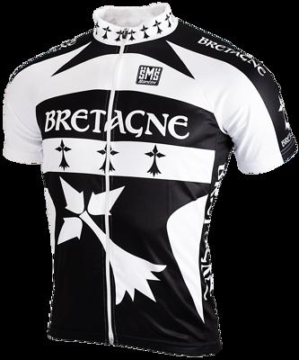 Fietsshirt Bretagne met rits korte mouw
