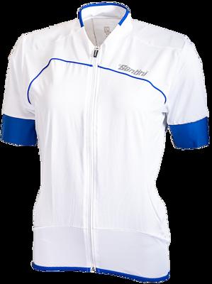 Fietsshirt Korte Mouw Fashion Anatomic Cut Wit/Blauw