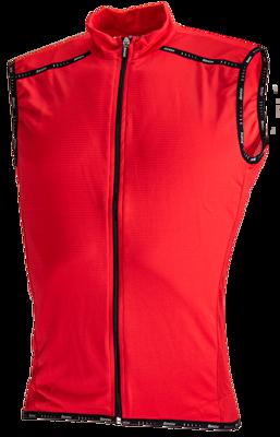 Fietsshirt Zip 75 Mouwloos Rood