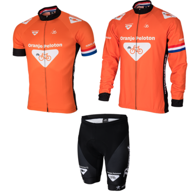 Oranje peloton cycling set