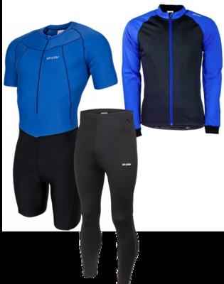 skeelerset suit / jacket / pants black + blue