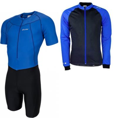 Skeelerset pak+jack zwart/blauw