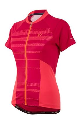 Wielershirt Elite Escape SS Jersey Cerise Stripe (Roze) Women 11221617