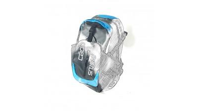 Cádomotus Skate Backpack Waterflow Zwart/Cyan