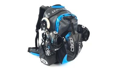 Skate Backpack Waterflow Zwart/Cyan