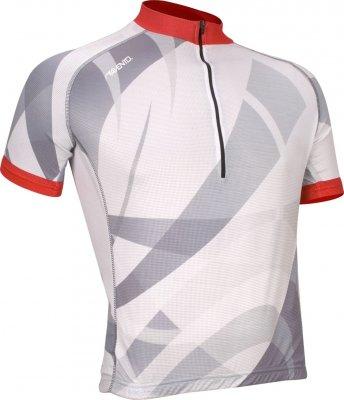 Maillot vélo manches courtes Blanc/Rouge