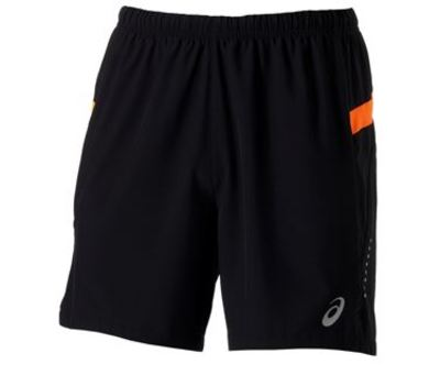 Woven Short 127612 Men 0521 Black Orange