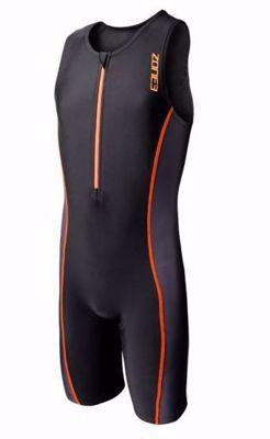 Kid's trisuit - black/neon orange