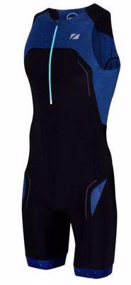 Men's Performance Culture Triatlonsuit sleeveless - Navy / Zwart / Grijs