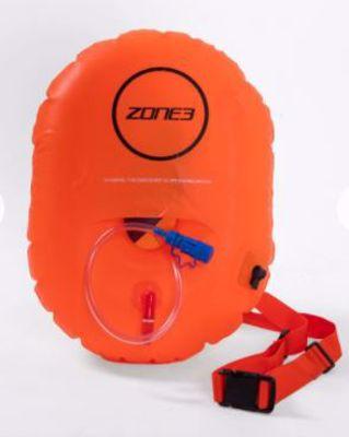 Swim safety buoy with hydration control