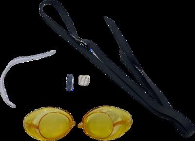 zweedse zwembril geel