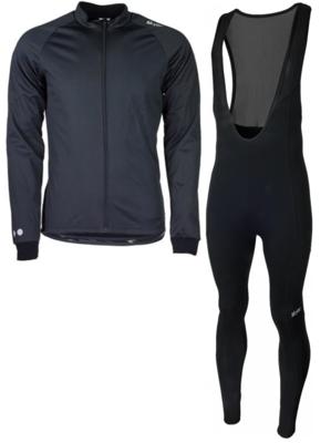 Softshell vest hiver  + Manzano Collant COMBINASION Noir/Noir