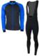 Softshell winterjack + Manzano Salopet  SET Blauw/Zwart