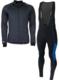 Softshell winterjack + Manzano Salopet  SET Zwart/Blauw