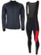 Softshell winterjack + Manzano Salopet  SET Zwart/Rood