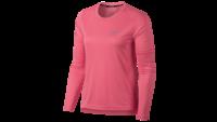 NikeDry Miler Top LS Neon Coral