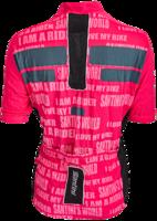 SantiniFietsshirt Korte Mouw Roze