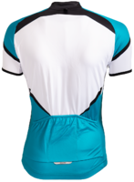 SantiniFietsshirt Dames Korte Mouw Wit Turquoise