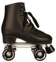 NijdamRolschaats retro zwart leder