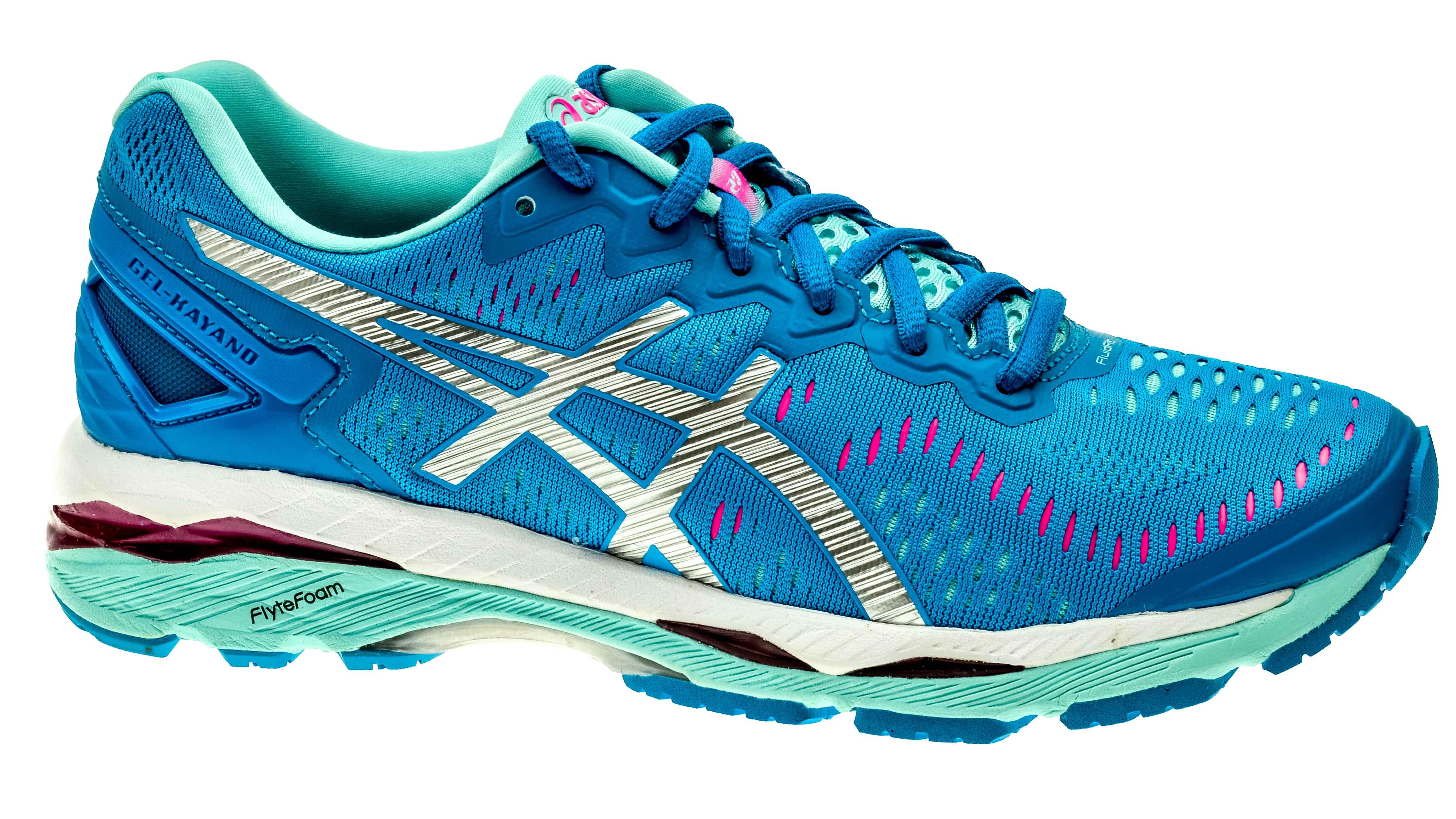 ASICS? GEL-Kayano 23 Women's Running Shoes Diva Blue/Silver/Aqua Splash
