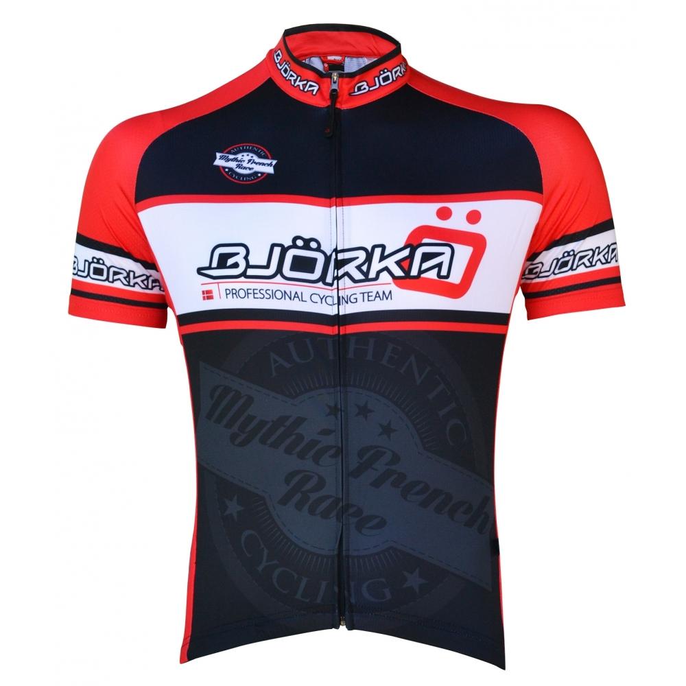 Bjorka bike shirt mythic french race black red bestellen for Bike and cycle shoppe shirt