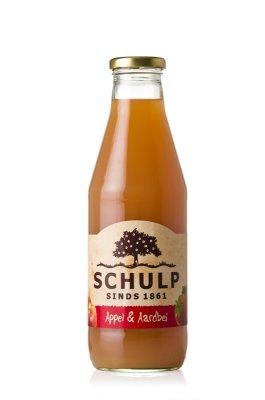 Appel-Aardbeisap Schulp(750 ml)