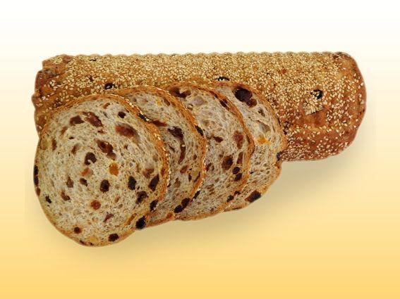 Volkoren notenrozijnenbrood (half)
