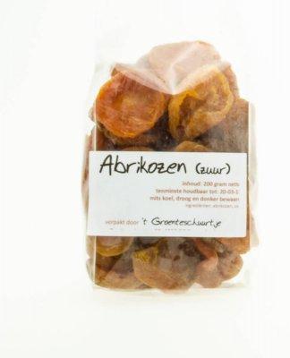 Gedroogde zure abrikozen (200 gram)