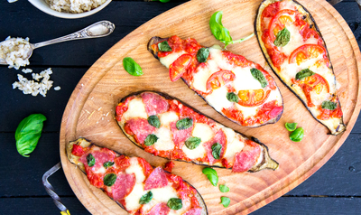 Recept: Snelle Auberginepizza's