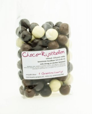 ChocoRijstbollen (150 gr)