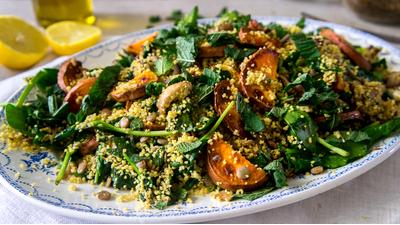Recept: Couscous- en linzensalade