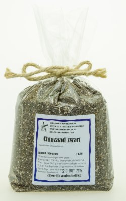 Chiazaad zwart (500 gr)