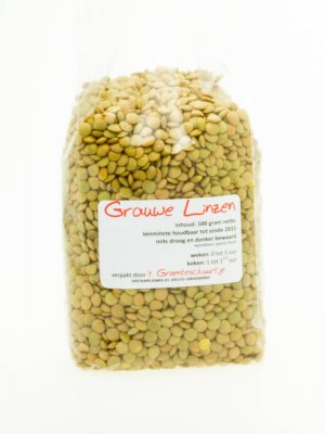 Grauwe linzen (500 gram)