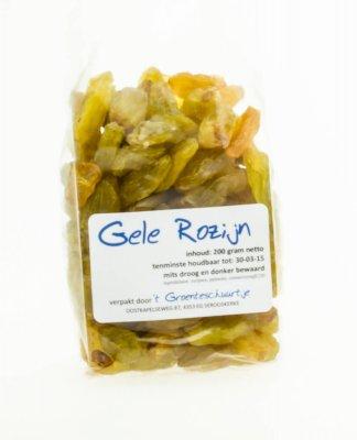 Gele rozijnen [Jumbo] (200 gram)