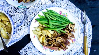 Recept: Sperzieboontjes met biefstuk