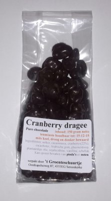 Cranberry dragee (150 gram)