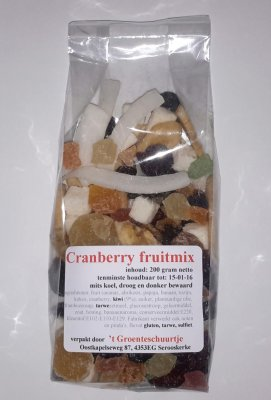 Cranberry fruitmix (200 gram)