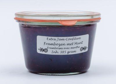 Frambozen - munt jam (385 gr)