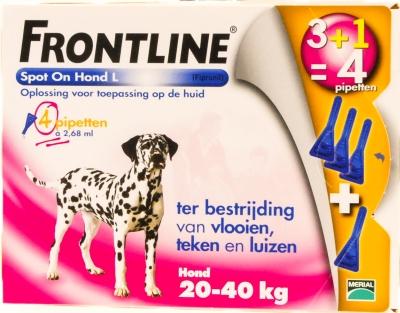 Frontline Spot on hond 4 stuks (20-40kg)