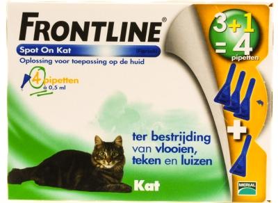 Frontline Spot on kat 4 stuks