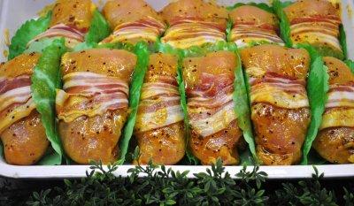 Kipfilet mosterd-bacon (150 gr)