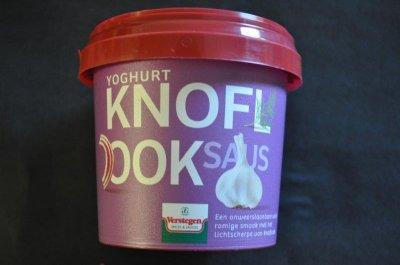 Yoghurt-knoflooksaus (per stuk)