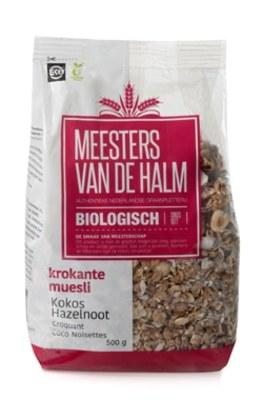 Muesli krokant KOKOS-HAZELNOOT biologisch