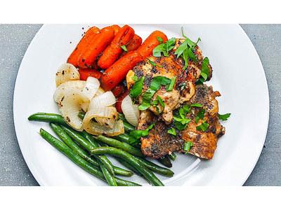Recept: Makkelijke kalkoen met boontjes en worteltjes