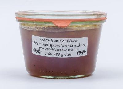 Peren jam met speculaaskruiden (385 gr)