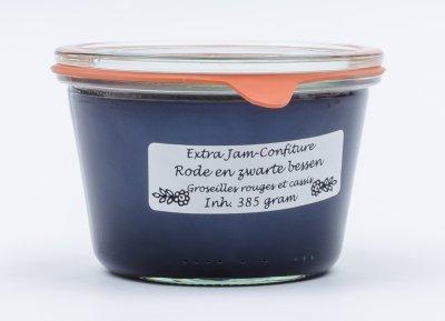 Rode en zwarte bessen jam (385 gr)