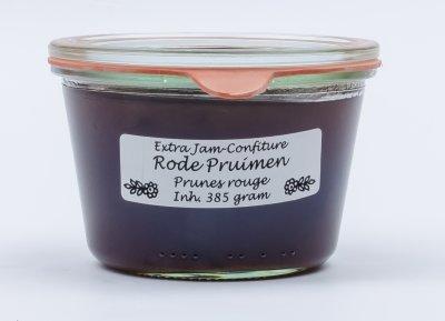 Rode pruimen jam (385 gr)