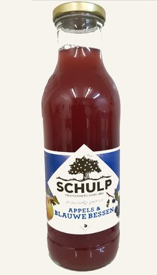 Appel-Blauwebes sap Schulp (750 ml)